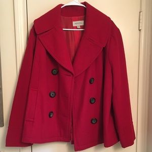 Merona Double-Breasted Red Pea Coat