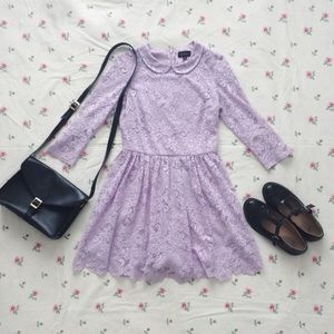 Most adorable darling lavender collar lace dress