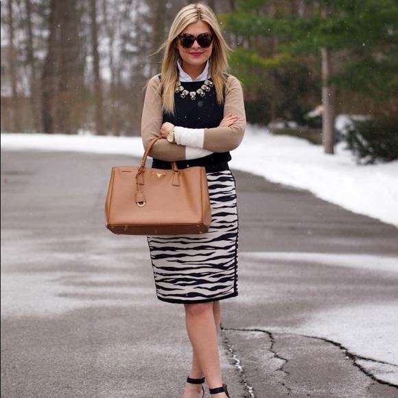 df29c42f4d27 Ann Taylor Skirts   Zebra Print Skirt Size 10p   Poshmark