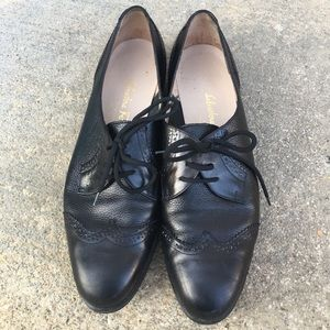 Black leather Salvatore Ferragamo boutique