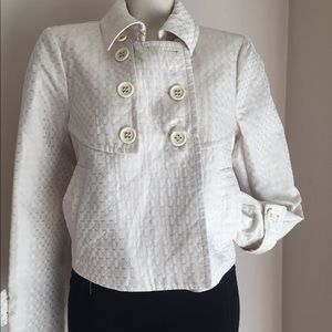New Bcbgmaxazria Women's Ivory Blazer Jacket M$398