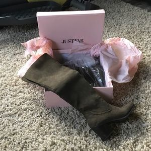 NWT JUSTFAB OVER THE KNEE BOOTS