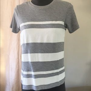 Asos gray and white striped tee