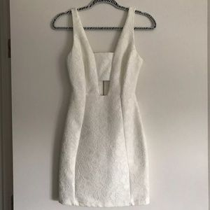TopShop laced white dress