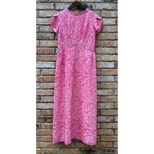 Vintage 1960s pink maxi sequin party dress