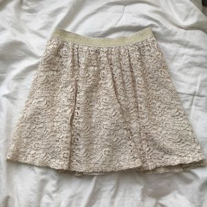 Urban Outfitters Kimchi Blue Gold Lace Skirt