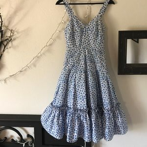 Marc Jacobs white and blue Sundress