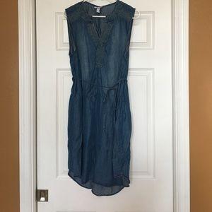 Dresses & Skirts - Liz Lange Maternity denim dress.