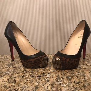 Christian Louboutin Leather Pony Leopard Print