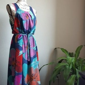 Maeve Anthropologie Belted Maxi