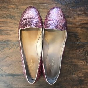 Sparkly Pink Kate Spade flats