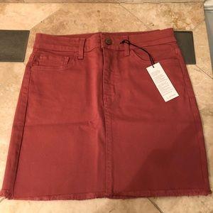 NWT dark blush mini skirt