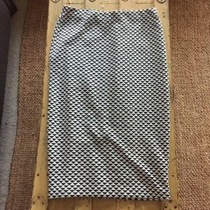 NWT HM H&M Black Ivory geo pattern pencil skirt 4