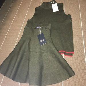 Zara coordinating skirt and top