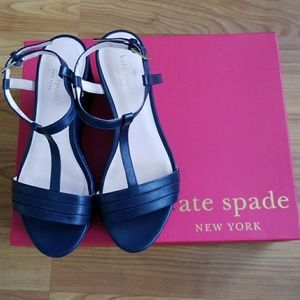 Kate Spade shoes (Tallin Wedge) Navy color