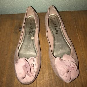 Dusty pink suede flats by Sam & Libby
