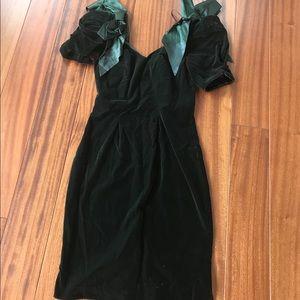 Velvet vintage 80s dress