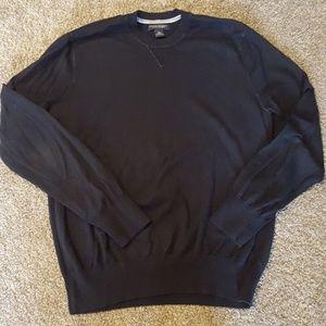 Mens BR cotton cashmere black sweater