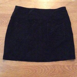 Free people black suede mini skirt