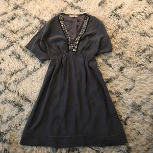 Sandro Gray Silk Dress