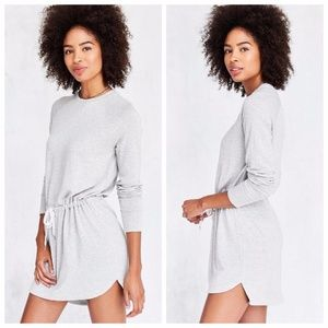 Silence + Noise Hudson Sweatshirt Dress in Grey