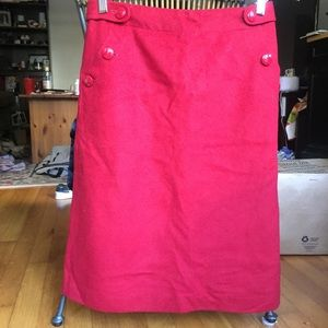 NWT Jcrew A line skirt with button pockets