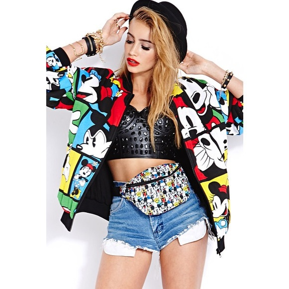 b667503e9ce Forever 21 Jackets   Blazers - Forever 21 Oh Mickey Bomber Jacket