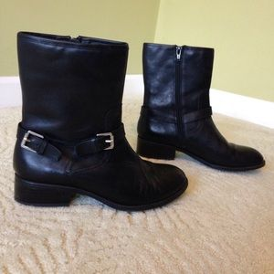 "6.5 Ralph Lauren ""Mesi"" Boots Black Leather Flat"