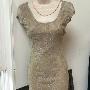 Gold Wet Seal Sexy Dress Size Small