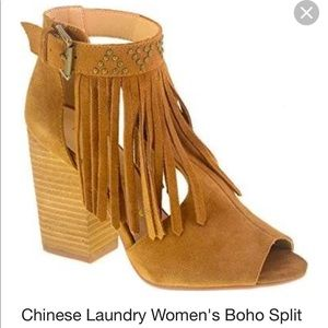 Chinese Laundry Boho Split Suede Bootie, Size 10