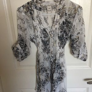 american rag open sheer wrap tunic