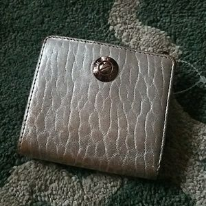 HENRI BENDEL Metallic Leather Mini Wallet