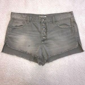 Free People Gray Denim Cutoff Jean Shorts Size 29