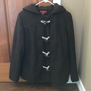 Dark brown pea coat