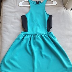 Teal cutout dress size medium