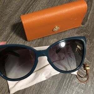 Teal Tory Burch Sunglasses w case and dust bag