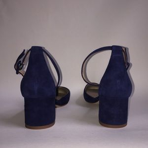 3bf09918071 Ann Taylor Shoes - Ann Taylor navy suede low block heel ankle strap