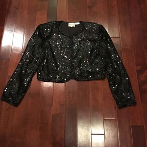 Vintage Stenay silk sequin evening jacket blazer
