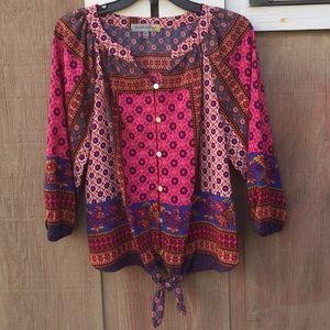 FIGUEROA & flower boho printed blouse