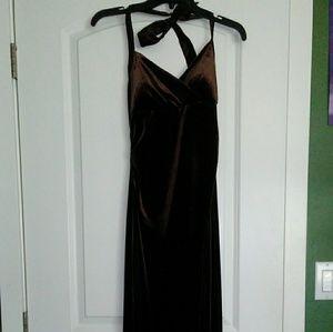 Medium brown full length dress