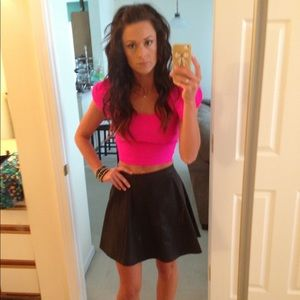 """Hot Pink Nasty Gal """"Lovely Day"""" Crop Top"""