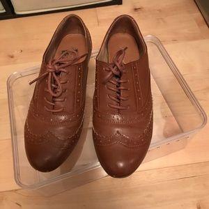 ALDO Brown Leather Oxfords Size 6