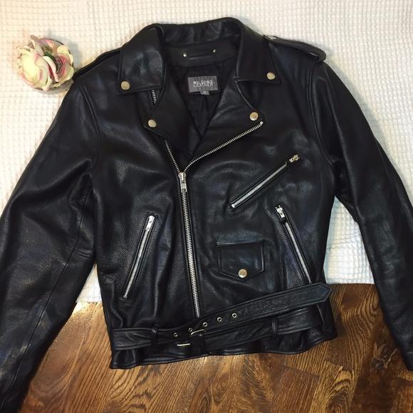 dbc7a06a Wilsons Leather Jackets & Coats | Black Motorcycle Bad Boy Jacket ...