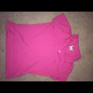 Lacoste pink shirt!