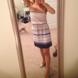 WHBM Strapless Sun Dress