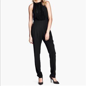 H&M black sleeveless jumpsuit