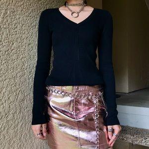 ⛓🍒DKNY Black V-neck Sweater NWT