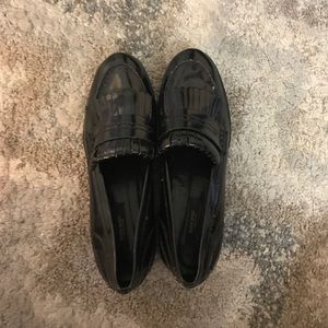 Zara black Oxford loafers fringe  size 39