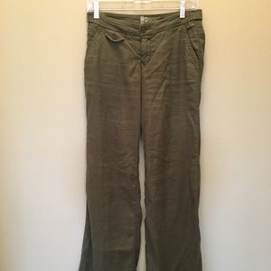 Level 99 Anthropologie Linen Wise Leg Pant Size 25