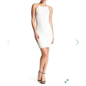 Love...Addy Nordstrom ivory stripe bodycon dress